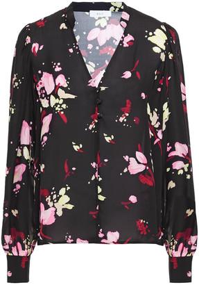 A.L.C. Floral-print Silk Blouse