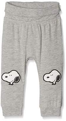 Name It Baby Nbnsnoopy Hope Pants Trouser, (Grey Melange)