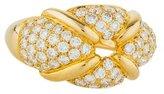 Chaumet 18K Diamond Pavé X Ring