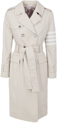 Thom Browne Striped Sleeve Trench Coat