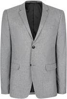 Topman Men's Salt and Pepper Cross Weave Blazer