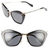 Miu Miu Glitter Infused 55mm Cat Eye Sunglasses