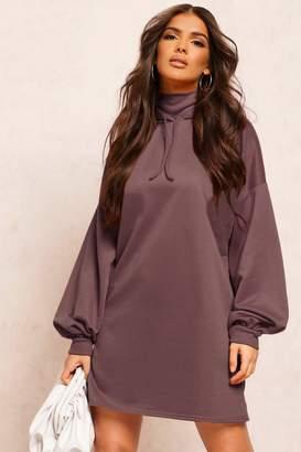 boohoo Recycled Sweat Oversized Hoodie Dress