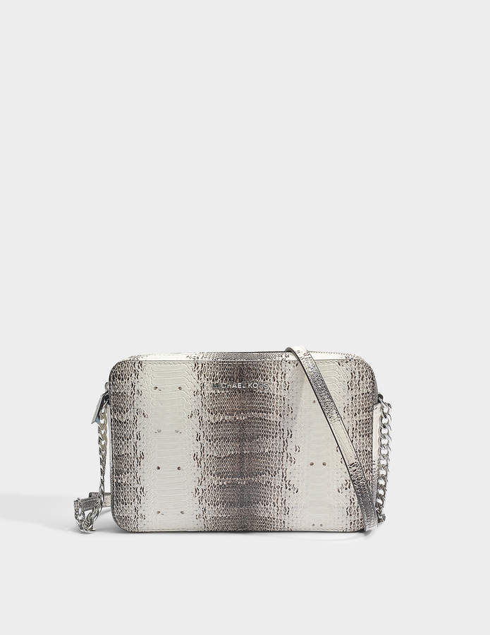 MICHAEL Michael Kors Large East-West Crossbody Bag in Natural Python Embossed Snake