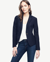 Ann Taylor Home Jackets Petite Jacquard Single Button Blazer Petite Jacquard Single Button Blazer