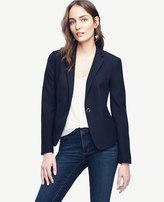 Ann Taylor Petite Jacquard Single Button Blazer