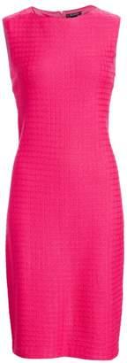 St. John Box Texture Knit Sheath Dress