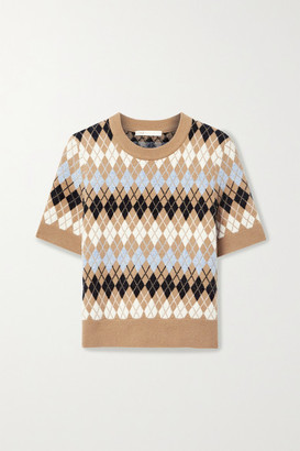 Maje Argyle Wool-blend Top - Brown