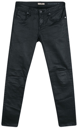 Burberry Black Coated Westbourne Skinny Ankle Jeans M