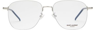 Saint Laurent Teardrop Metal Glasses - Silver