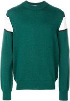 MSGM intarsia knit jumper - men - Acrylic/Virgin Wool - S