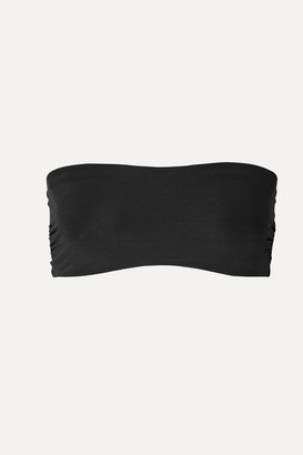 Commando Chic Mesh Stretch Soft-cup Bandeau Bra - Black