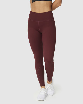 Muscle Republic - Women's Red 7/8 Tights - Inspire Full Leggings - Size One Size, M at The Iconic