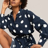 Thumbnail for your product : La Redoute Collections Polka Dot Shirt Dress with Long Sleeves