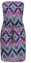 Melissa Odabash Cheryl Graphic Purple Dress