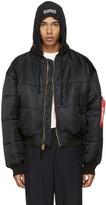 Vetements Reversible Black Alpha Industries Edition Bomber Jacket