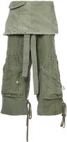 Greg Lauren cropped layered cargo trousers