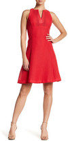 Nanette Lepore Topstitched Fit & Flare Dress