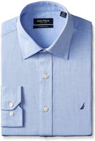 Nautica Men's Twill Shirt with Spread Collar