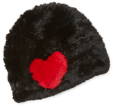 Jocelyn Rabbit Fur Graphic Hat