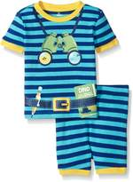 Petit Lem Boys' 2 Piece Short Sleeve Top and Short Pajama Set-Lost At the Museum