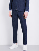 Lardini Regular-fit bootcut cotton-blend trousers