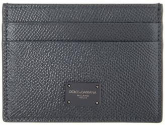Dolce & Gabbana Grey Dauphine Logo Card Holder