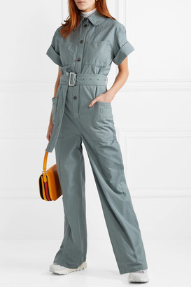 Acne Studios Phyllis Cotton-twill Jumpsuit - Blue