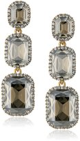 Cara Swarovski Crystal Three Drop Earrings