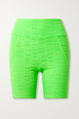 Twenty Montreal Rothko 3d Stretch Jacquard-knit Shorts - Bright green