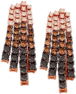 LeVian Le Vian Chocolate Layer Cake Diamond (2-5/8 ct. t.w.) Drop Earrings in 14k Rose Gold