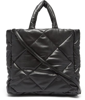 Stand Studio Assante Quilted Faux-leather Tote Bag - Black