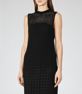 Reiss Leigh High-Neck Lace Top