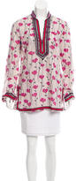Tory Burch Printed Semi-Sheer Tunic