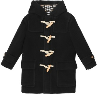 BURBERRY KIDS Wool duffle coat
