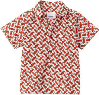 Burberry Monogram Print Poplin Woven Shirt