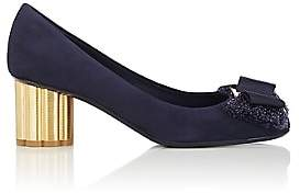 Salvatore Ferragamo Women's Allegra Suede Pumps-Navy