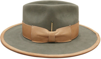 Nick Fouquet Marlin Beaver Felt Fedora Hat w/ Leather Trim