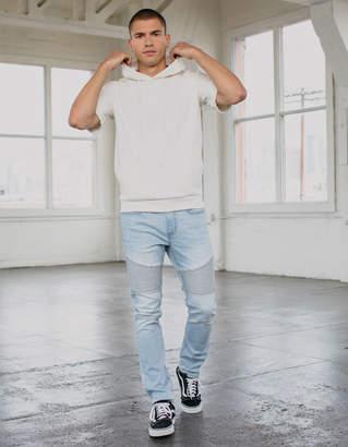 Rsq Seattle Skinny Taper Moto Light Wash Mens Jeans