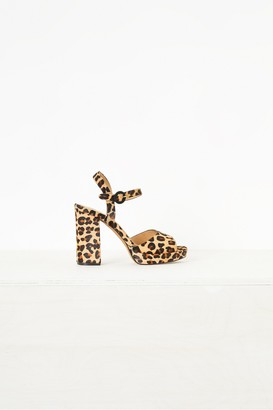 French Connection Edita Leopard Print Platform Sandals