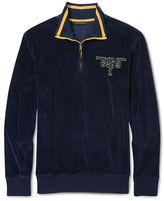 Sean John Big & Tall Sweater, Half Zip Velour Sweater