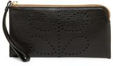 Orla Kiely Flat Zip Leather Wallet