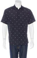 Neil Barrett Star Print Short Sleeve Shirt