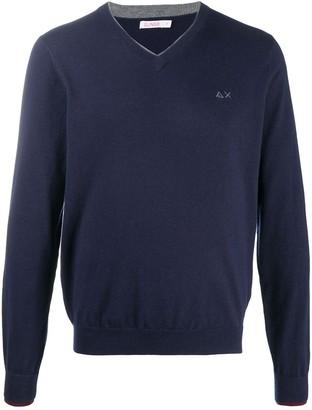 Sun 68 Layered-Neck Sweater