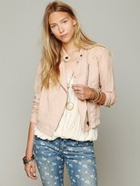 Free People Cutouts In Linen Jacket