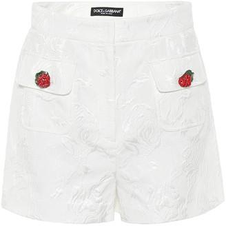 Dolce & Gabbana Cotton and silk jacquard shorts