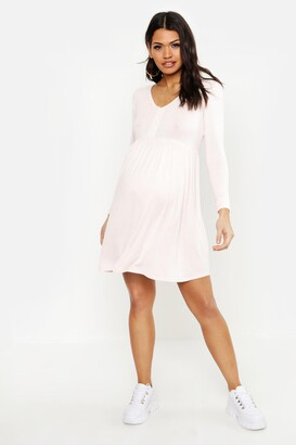 boohoo Maternity Button Front Smock Dress