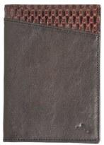 Tommy Bahama Men's 'Basketweave' Leather Passport Case - Black