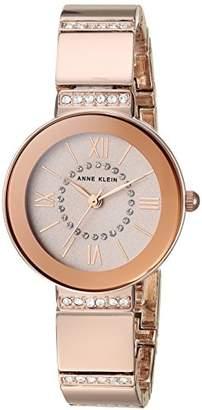 Anne Klein Women's AK/3190RGRG Swarovski Crystal Accented -Tone Bracelet Watch