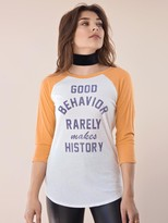 Signorelli Good Behavior Baseball Raglan in Ivory/Mustard